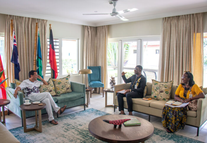 Courtesy call to H.E Gregory Andrews, Australian High Commissioner in Ghana